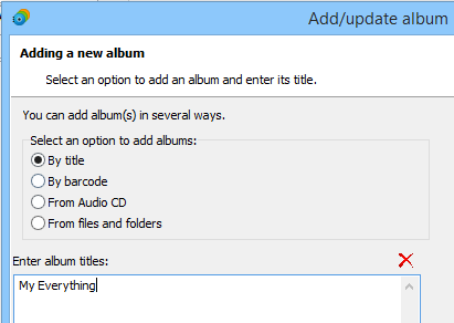 Adding an album by title